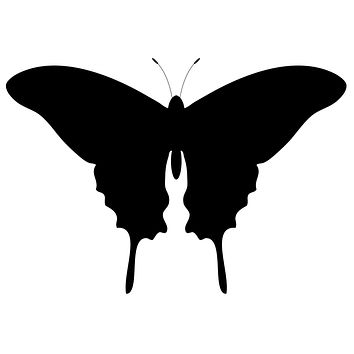 Black Butterfly Waterproof Temporary Tattoos Lasts 3 to 4 days Choose Small, Medium or Large Sizes