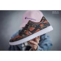 NIKE SB ZOOM DUNK low PRO x LV x off WHITE Bss three-party group lower leather P