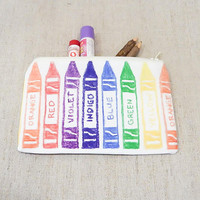Pencil Case/ Back to School Supply/ Pouch/ Gift for Teacher/ Make Up Bag/ Gift for Her/ Birthday Gift/ Best Friend Gift/ Graduation Gift