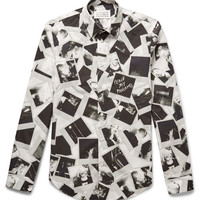 Maison Margiela - Slim-Fit Printed Cotton-Poplin Shirt