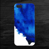 Watercolor Blue  iPhone 4 and 5 Case