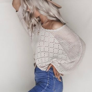 Morning Kiss Lavender Knit Sweater