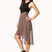 Crepe Woven High-Low Dress