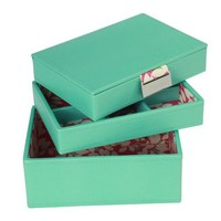 STACKERS jewellery box | mini green & floral set of 3