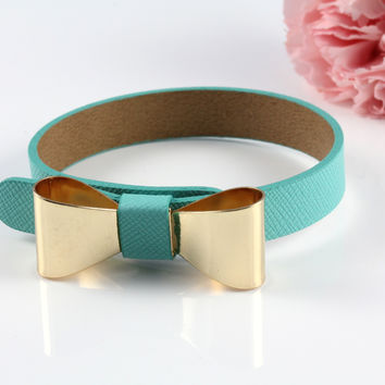 Bow Leather Band