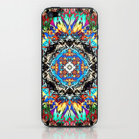 Colorful Abstract Mandala iPhone & iPod Skin by Phil Perkins