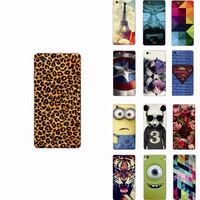 superman tiger cat rose flower cute cartoon white Hard Back Mobile Phone Case Cover for Huawei P8 Ascend Lite