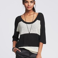 Striped Scoop Neck Pullover