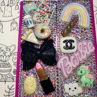 Custom bling LED standing lighted compact mirror