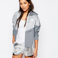 Nike Bonded Zip Front Windbreaker Jacket at asos.com