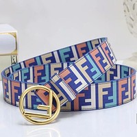 FENDI Woman Men Fashion Buckle Belt Leather Belt-6