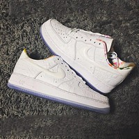Nike Air Force 1 AF1 CNY pure white paper-cut low-top sneakers shoes