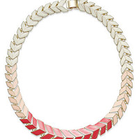 Bar III Necklace, 14k Gold-Plated Pink and White Enamel Chevron All-Around Necklace - All Fashion Jewelry - Jewelry & Watches - Macy's