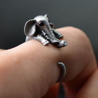 Elephant Ring Unique Rings Jewelry