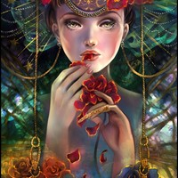 """""""The Rose Eater"""" - Art Print by Schin Loong"""