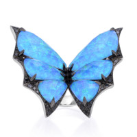 Fly by Night Batmoth Ring   Stone & Strand