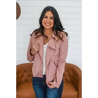 Top Flight Jacket - Dusty Blush