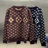 LV high neck classic AOP sweater