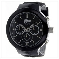 Lacoste 2010651 Borneo Black/Silver Stainless Steel Chronograph Watch