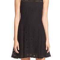 Women's BB Dakota 'Renley' Lace Fit & Flare Dress ,