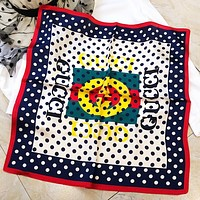 GUCCI Fashion New Letter Print Women Wave Point Scarf