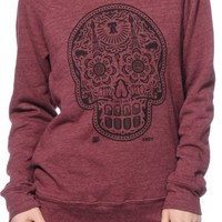 Obey Day Of The Dead Port Royal Crew Neck Sweatshirt