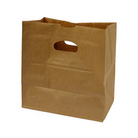 11 x 6 x 11 Brown Die Cut Handled Grocery Bags/Case of 500