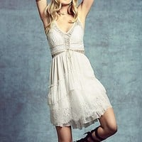 Free People Womens Lace Up Babydoll