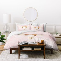 Kangarui Romantic Boho Buffalo Duvet Cover