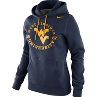 Nike Women's West Virginia Mountaineers Blue School Stamp Pullover Hoodie