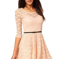 Dear-lover Women's Fashion Lace Mini Dress 102