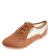 LACE INSET OXFORD FLAT