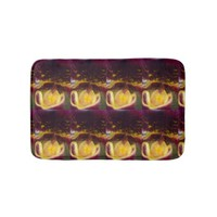 Painted Ladyslipper Orchid Bathroom Mat