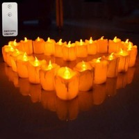 Remote Control LED Light Party Candles Outdoor Flame-less Candles Home Decor Candle LED Church Candles, Set Of 12