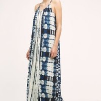 Allison Sky Country Maxi Dress in Blue Size: