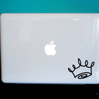 Crown Laptop, iPad, Car Vinyl Decal