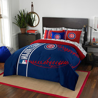Chicago Cubs MLB Full Comforter Bed in a Bag (Soft & Cozy) (76in x 86in)