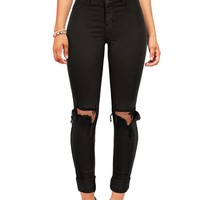 Strike Out Knee Torn Jeggings