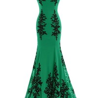 Sunvary Chiffon and Appliques Mermaid Mother of the Bride Dress Prom Gowns