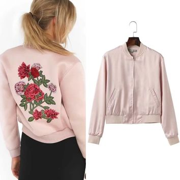 Floral Embroidery Tops Jacket [11809625871]