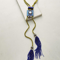 Moss Rope Bolo Necklace