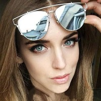 Luxury Metal Reflective Sun Glasses