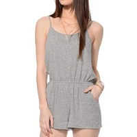 Empyre Eve Heather Grey Knit Romper