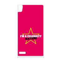 Celebrity Hater White Silicon Rubber Case for Huawei P6 by Chargrilled