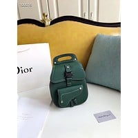 DIOR LEATHER SADDLE BACKPACK BAG