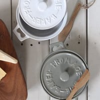 Stoneware Brie Baker w/ Wood Spreader, 2 Colors