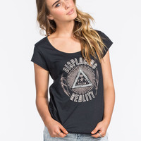 Volcom Displacing Reality Womens Tee Black  In Sizes