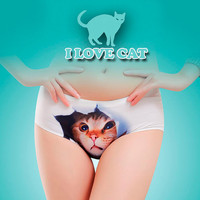 Pussycat panties, cat underwear, cat face, Cat Sexy Lingerie,gift for her, awesome gift idea