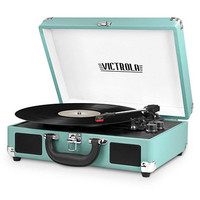 Victrola VSC-550BT 3-Speed Vintage Bluetooth Suitcase Turntable with Built-In Stereo Speakers