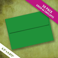 A6 Size GREEN Envelopes   Pack of 50